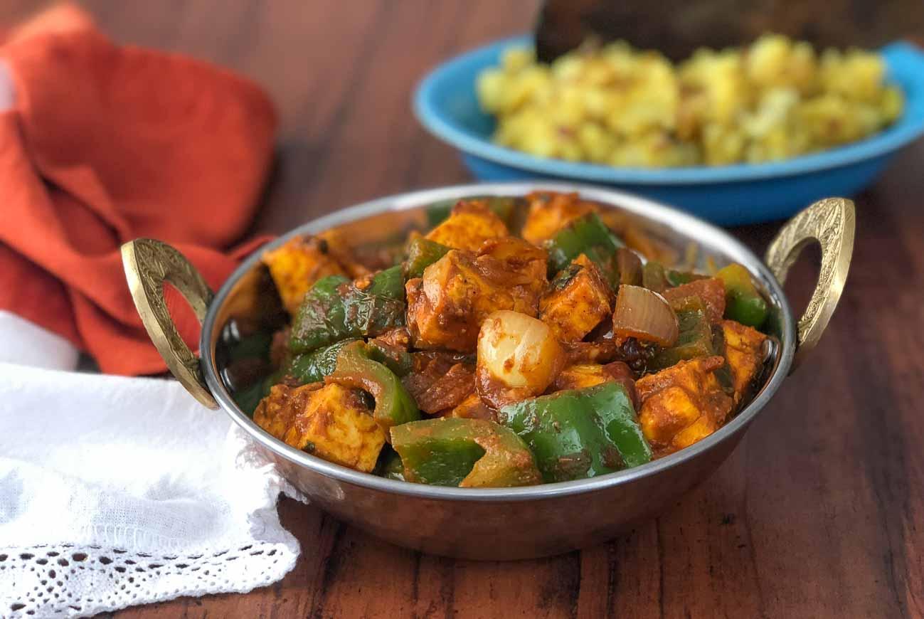 Indian Spicy Kadai Paneer Recipe