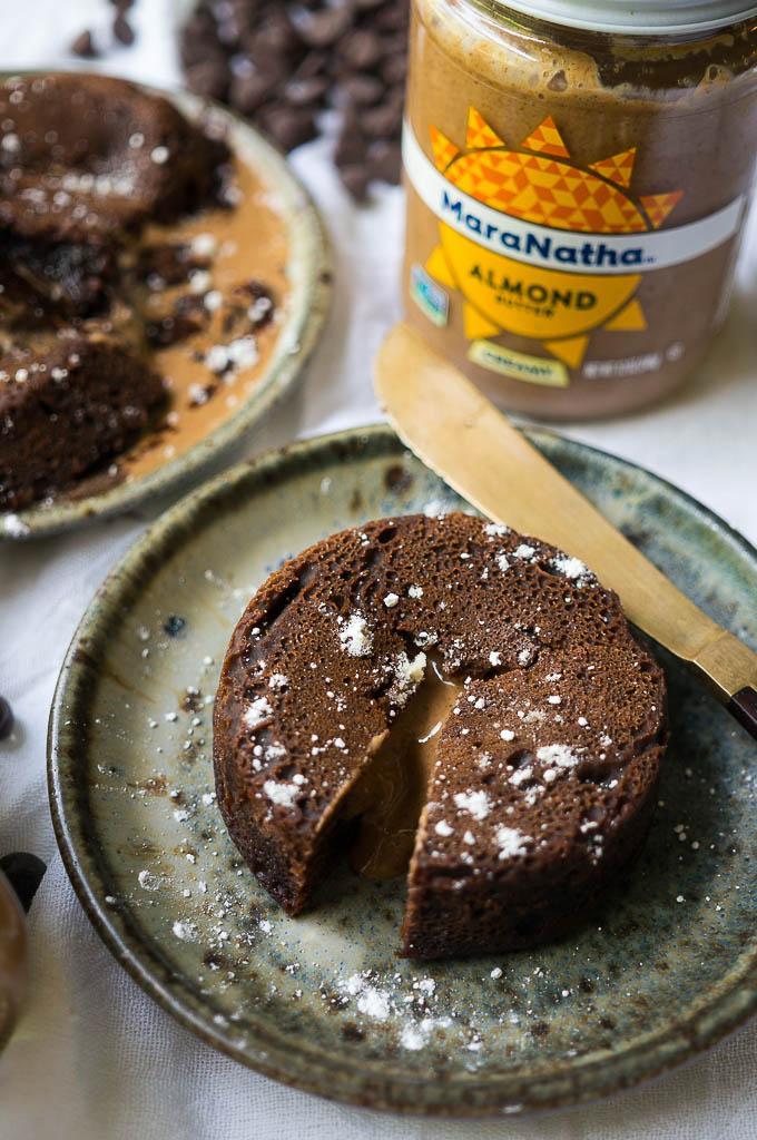 Pressure Cooker Dark Chocolate Almond Butter Lava Cakes